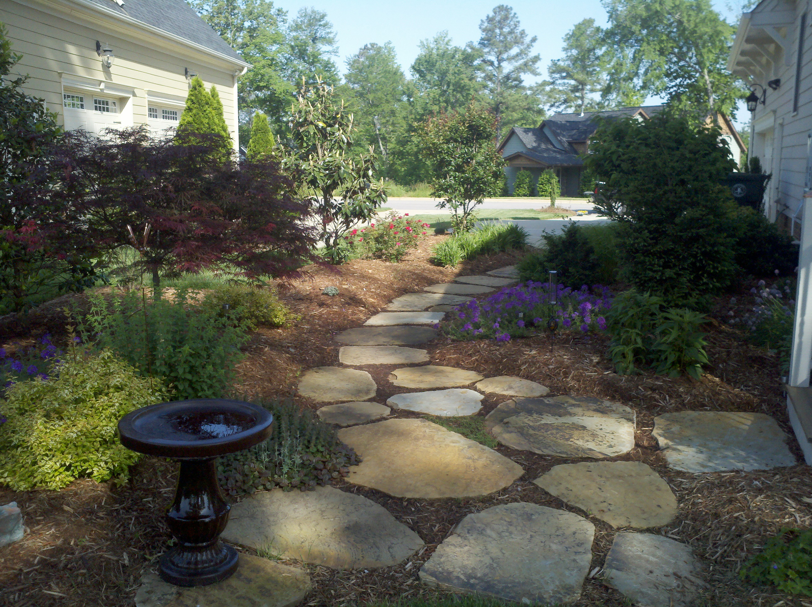 Stonework for Rock stepping stones landscaping